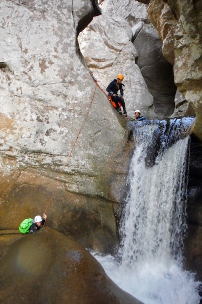 Abseiling Piscia di Gallu - Canyoning Corsica -